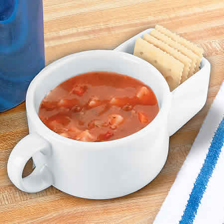 Soup and Cracker Mug
