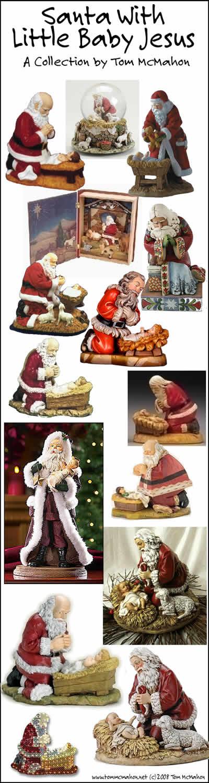 Santa With Little Baby Jesus