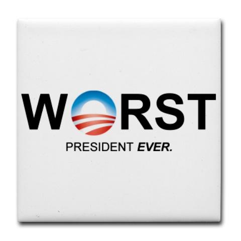 Mugs-A-Plenty: Worst President Ever Tile Coaster