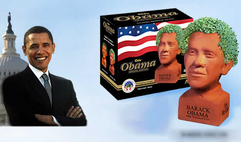 The Chia Obama: Can you grow one? YES YOU CAN!