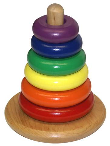 The Rocky Color Cone: The Classic American Wood Toy Designed In 1938 by Jarvis Rockwell, Brother of Norman Rockwell