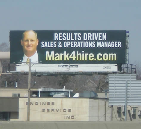 Mark4hire.com: Looking for Work Using a Billboard