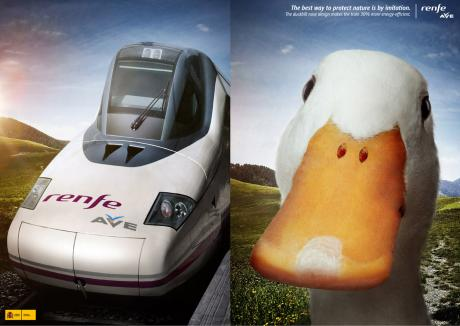 The AFLAC Train: The Duckbill Nose Design Makes The Train 30 Percent More Energy-Efficient