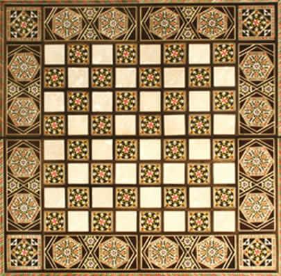 Chess Board Made in Jerusalem