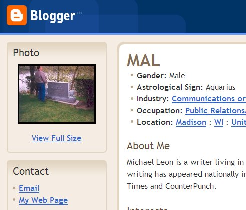 Michael Leon's Blogger Profile