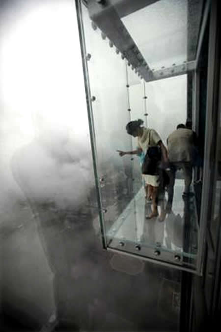 Sears Tower Unveils Glass Ledge Suspended 1,353 feet In The Air