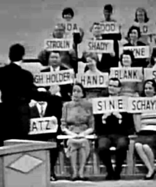 Inda Good Old Somerstein: Meredith Willson Appears on Garry Moore's I've Got A Secret Program on March 25, 1963 and Conducts A Chorus Of People Chosen From The New York Phone Books Whose Names Spell Out The Words To A Popular Song