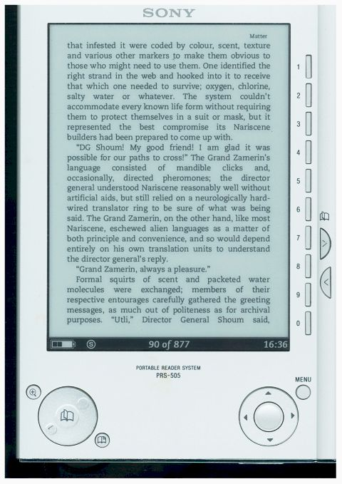 My Viewsonic Viewpad 100 eBook Project: I Give Up and Buy a Sony PRS-505