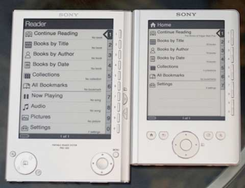 Sony Reader PRS-505 and the new Sony Reader Pocket (PRS-300)
