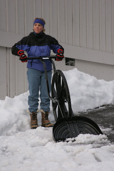 The Sno Wovel: A Wheeled Snow Shovel