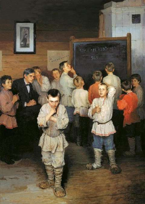 Mental Calculation: A Math Lesson In A Russian School In 1895