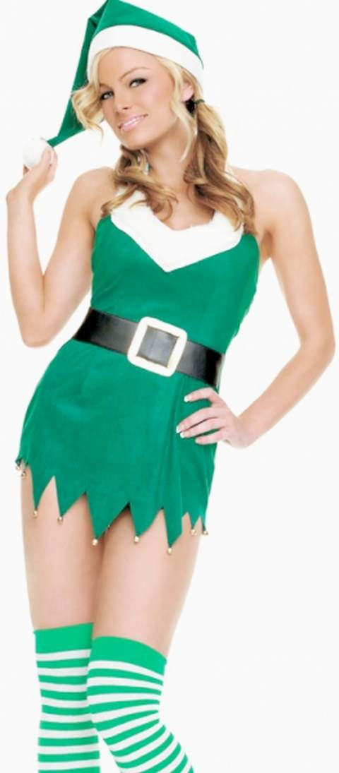 The Obligatory and Gratuitous Christmas Santas Helper Green Elf Costume Blog Post