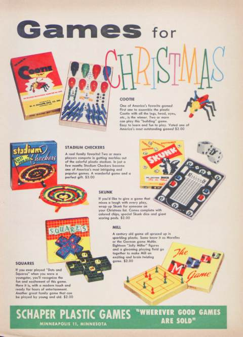 Schaper Toys, Including Cootie and Stadium Checkers