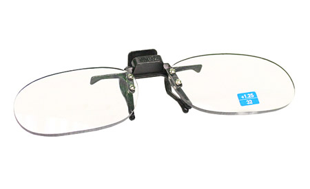 Small Clear Clip-on Flip-up Computer Reading Glasses