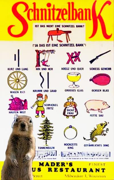 Das Squirrel Und Schnitzelbank
