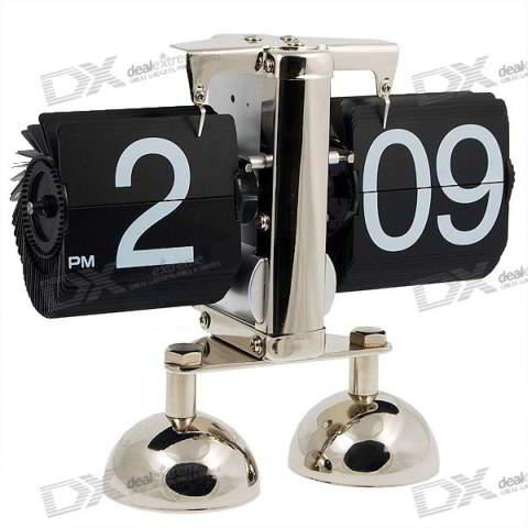 Retro Digital Flip Page Gear Clock