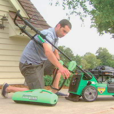 The Lawn Stryper is Available in Orange, Green, or Black