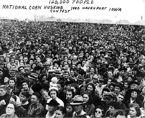120,000 People at the 1940 National Corn Husking Contest in Davenport, Iowa