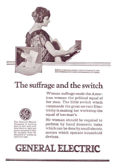 The Suffrage and the Switch: A General Electric Advertisement, Circa 1920