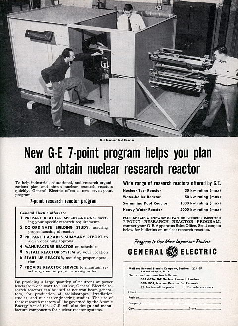 New GE 7-Point Program Helps You Plan And Obtain Nuclear Research Reactor