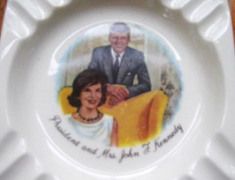 Place Your Butt Here: The President and Mrs. John F. Kennedy Ashtray