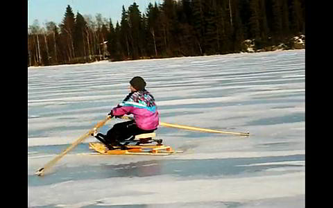 Rowing On Ice
