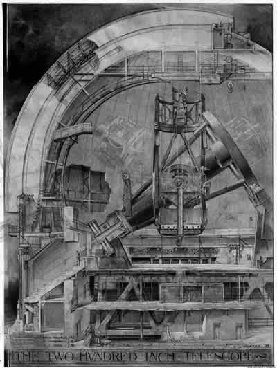 Porter Cutaway Drawing of Mt. Palomar