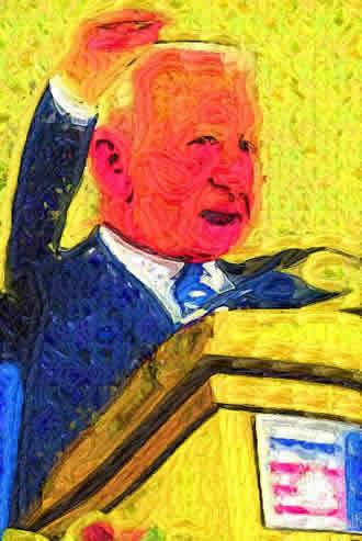 Virtual Painter: Boris Yeltsin Addressing The Politburo