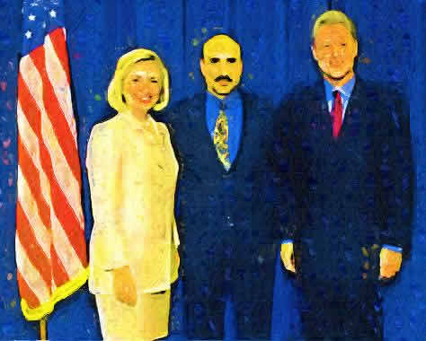 Presidential Candidate Hillary Clinton With Close Personal Friend Tony Rezko, Who Is Awaiting Trial On Federal Corruption Charges, And With Her Husband Bill Clinton, The Only Elected President To Be Impeached In US History