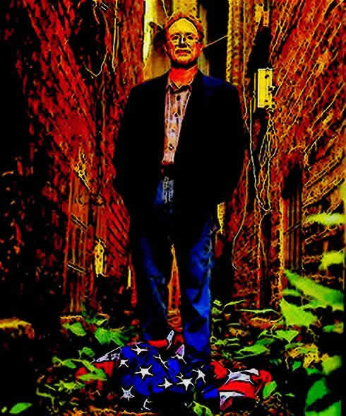 Intocartoon: Barack Obama's Buddy Bill Ayers Standing On The American Flag