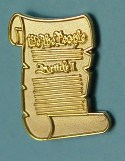 US Constitution Lapel Pin