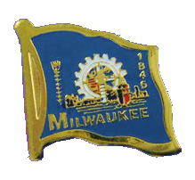 Lapel Pin: Milwaukee Flag