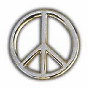 Lapel Pin: Peace Sign