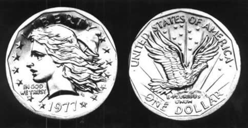 Frank Gasparro's 1977 Liberty Head Dollar Coin That Never Was: Instead Of This Beautiful Coin, We Got Susan B. Anthony