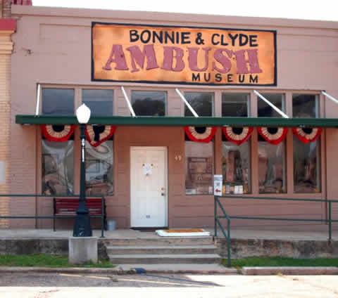 The Bonnie and Clyde Ambush Museum in Gibsland, Louisiana