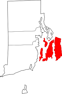 Newport County, Rhode Island: Is This The Only County In The USA That Shares A Land Border With Another State, But Doesn't Share A Land Border With Another County In Its Own State?