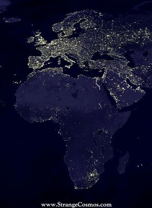 Africa, The Dark Continent. Literally.