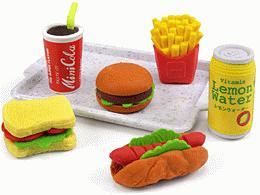 Fast Food Mini Erasers