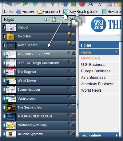 The iRider Browser: Favorites Books