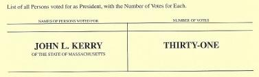 New York Electors Vote For Someone Named John L. Kerry