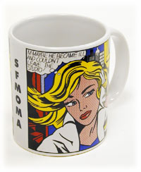 Mugs-A-Plenty: Roy Lichtenstein M-Maybe