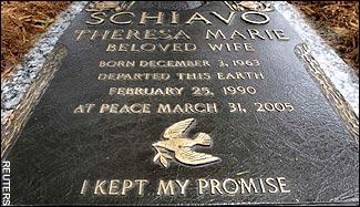 Schiavo Grave Marker