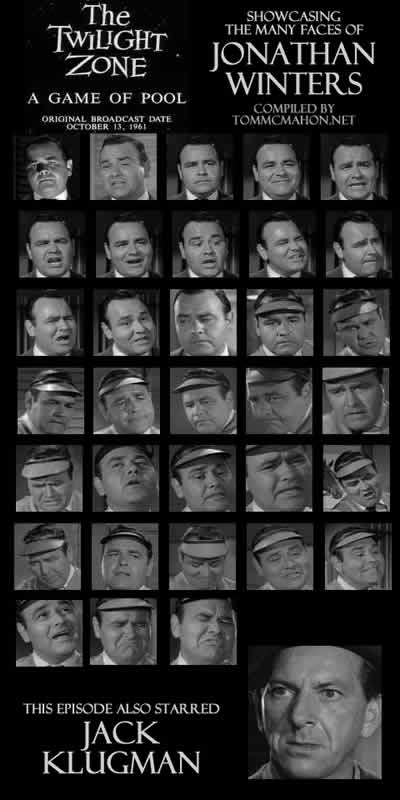 The Twilight Zone: A Game Of Pool. Showcasing The Many Faces Of Jonathan Winters
