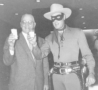 My Grandfather and The Lone Ranger. Be sure to drink your milk!